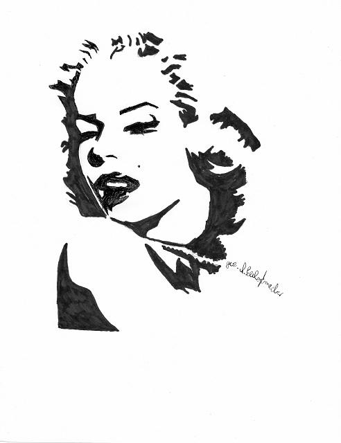 Marilyn Monroe by sunflower